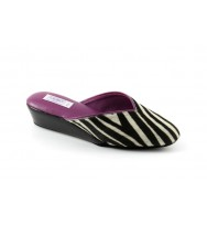 women's slippers SEGRETA  zebra-print pony hair