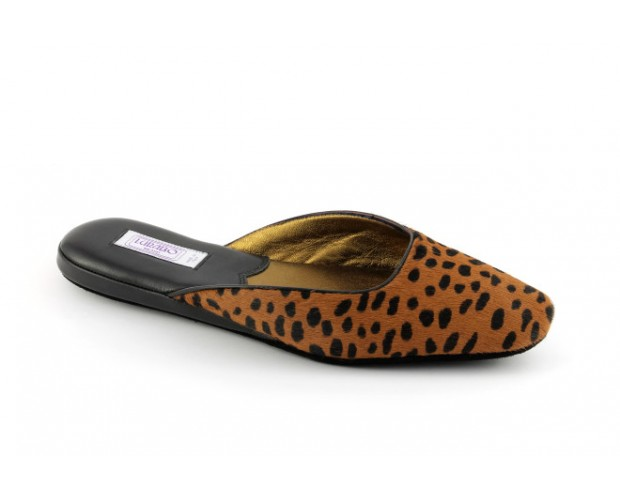 8960fc54df41 women s slippers TUSA leopard-print pony hair